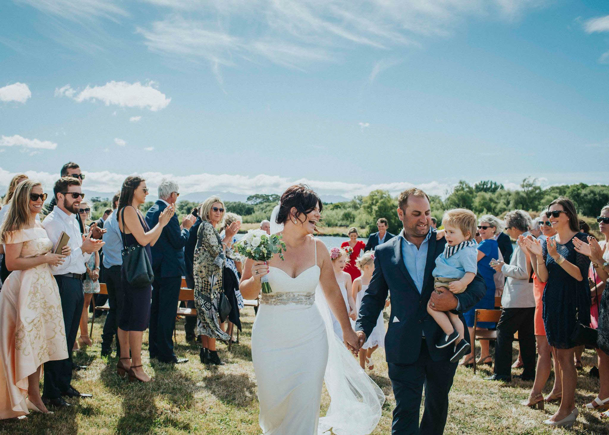 Wedding at backpaddock lakes