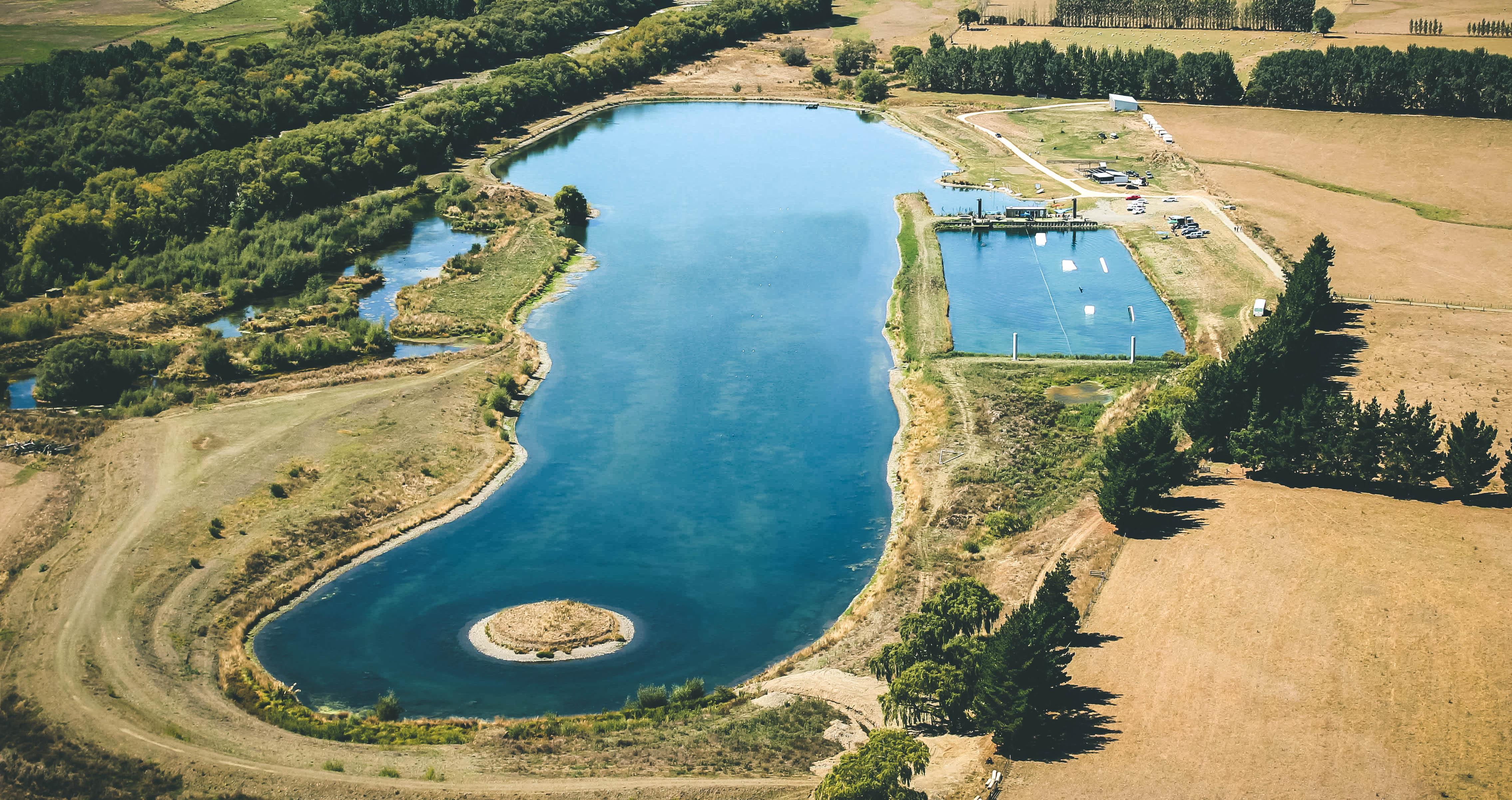 Backpaddock lakes, three lakes